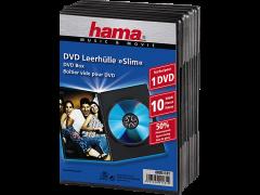 HAMA 51181 Slim DVD Jewel Case, pack of 10, Black
