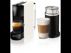 KRUPS Nespresso XN1111S Essenza Mini Καφετιέρα Krups Λευκή μαζί με Aeroccino