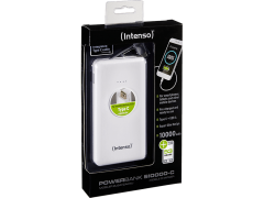 INTENSO Power Bank S10000mAh W Type C Cable Slim White