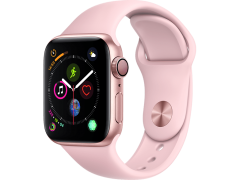 APPLE Watch Series 4 40mm Gold με Pink Sand Sport Band