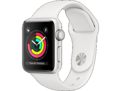 APPLE Watch Series 3 42mm Silver με Λευκό sport band