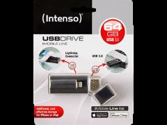 INTENSO iMobile Line USB Drive 64GB USB3.0 Lightning