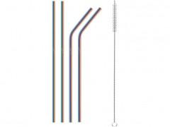 LAMART LT7053 Σετ ανοξείδωτα καλαμάκια με βούρτσα καθαρισμού Straw