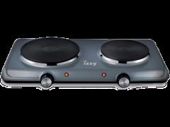 IZZY Διπλή Ηλεκτρική Εστία Grey P4002 (222964)