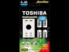 TOSHIBA Rechargeable AA Ni-MH/1.2V 2τμχ & USB Charger