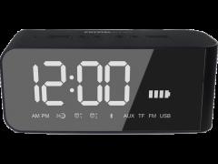 Crystal Audio Btc2k Bt Speaker Alarm Clock Radio Μαυρο 5204803570042