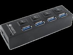 USB HUB 3.0 GEMBIRD 4 PORTS SWITCH