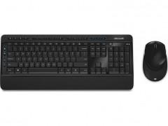 Ασύρματο Ελληνικό Πληκτρολόγιο & Ποντίκι Microsoft Wireless Desktop 3050 Μαύρο