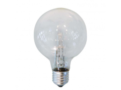 EUROLAMP Λάμπα Σφαιρική Αλογόνου 42W E14 240V Διάφανη - (800-88431)
