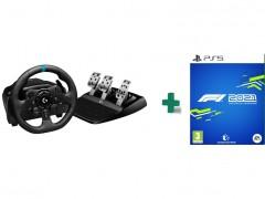 LOGITECH G923 Truforce Sim Racing - Τιμονιέρα PS5/PS4/PC μαζί με F1 2021 PS5