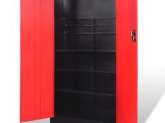 vidaXL Ντουλάπα Εργαλείων 2 Πόρτες Μαύρη/Κόκκινη 90x40x180 εκ Ατσάλινη