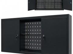 vidaXL Ντουλάπι Εργαλείων Επιτοίχιο Μαύρο 120 x 19 x 60 εκ. Μεταλλικό