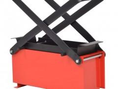 vidaXL Συσκευή Κατασκευής Μπρικετών Μαύρο/Κόκκινο 34x14x14 εκ. Ατσάλι