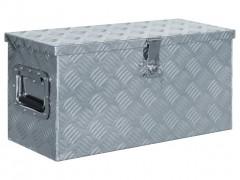 vidaXL Κουτί Αποθήκευσης Ασημί 61,5 x 26,5 x 30 εκ. Αλουμινίου