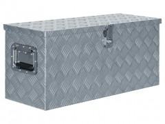 vidaXL Κουτί Αποθήκευσης Ασημί 80 x 30 x 35 εκ. Αλουμινίου