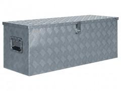 vidaXL Κουτί Αποθήκευσης Ασημί 110,5 x 38,5 x 40 εκ. Αλουμινίου