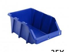 vidaXL Σκαφάκια Αποθήκευσης Στοιβαζόμενα 35 τεμ. Μπλε 218x360x156 χιλ.