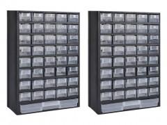vidaXL Κουτί Αποθήκευσης με 41 Συρτάρια 2 τεμ. Πλαστικό