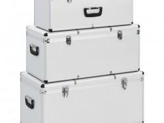 vidaXL Κουτιά Αποθήκευσης 3 τεμ. Ασημί Αλουμινίου