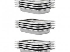 vidaXL Λεκάνες Gastronorm 12 τεμ. GN 1/4 40 χιλ. από Ανοξείδωτο Ατσάλι