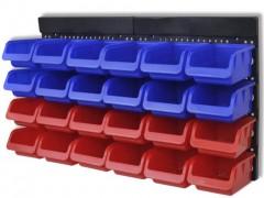 vidaXL Σύστημα Οργάνωσης Εργαλείων Επιτοίχιο 2 τεμ. Μπλε & Κόκκινο
