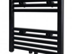 vidaXL Θερμαντικό Σώμα/Πετσετοκρεμάστρα Κεντρ. Θέρμανσης Μαύρο 480 x 480 χιλ.