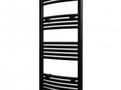 vidaXL Θερμαντικό Σώμα/Πετσετοκρεμάστρα Κεντρ. Θέρμανσης Μαύρο 500x1160 χιλ.