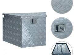 vidaXL Κουτί Αποθήκευσης Ασημί 737/381 x 410 x 460 εκ. Αλουμινίου