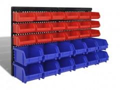vidaXL Πλαστικά σκαφάκια αποθήκευσης Σετ 30 τμχ Μπλε & κόκκινο