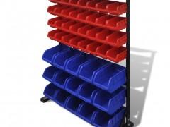 vidaXL Σύστημα οργάνωσης εργαλείων Μπλε & κόκκινο