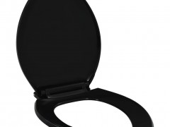 vidaXL Κάλυμμα Λεκάνης με Soft Close & Quick Release Μαύρο