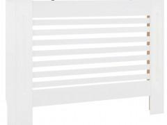 vidaXL Κάλυμμα Καλοριφέρ Λευκό 112 x 19 x 81,5 εκ. από MDF