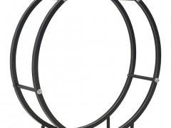 vidaXL Ράφι Καυσόξυλων Μαύρο 70 x 20 x 70 εκ. Ατσάλινο