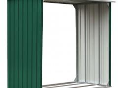 vidaXL Υπόστεγο Αποθήκευσης Ξύλων Πράσινο 172x91x154 εκ. Γαλβ. Ατσάλι