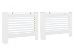 vidaXL Καλύμματα Καλοριφέρ 2 τεμ. Λευκά 112 x 19 x 81,5 εκ. από MDF