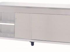 Niki Inox ER SY 157 Ερμάριο Inox Με 2 Συρόμενες Πόρτες - 1570x700x860mm