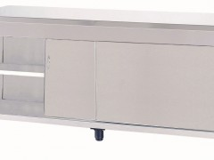 Niki Inox ER SY 185 Ερμάριο Inox Με 2 Συρόμενες Πόρτες - 1850x700x860mm