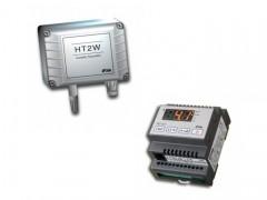 LAE Electronic AC1-27AS2RE-B + HTWAD Υγροστάτης Ηλεκτρονικός Ράγας Με 2 Ρελέ & Θύρα RS485 - 230Volt / 230Vac & Αισθητήριο Υγρασίας (Σχετική Υγρασία: 0%-100%)
