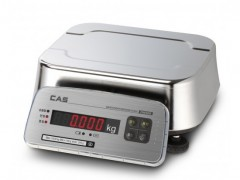 CAS FW500-E-6 (LED) Ηλεκτρονική Αδιάβροχη Ζυγαριά Inox Για Έλεγχο Βάρους Προιόντων (Ικανότητα Ζύγισης: 3/6Kg - Υποδιαίρεση: 1/2gr)