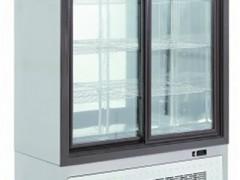 Niki Inox ΤΗ ΖΑ 130Μ Επαγγελματικό Ψυγείο Θάλαμος Αναψυκτικών & Ζαχαροπλαστικής Inox (Με 2 Συρόμενες Πόρτες) - 1300x560x2000mm