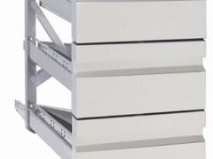 Niki Inox SY 60 131313 Συρταριέρα Με 3 Συρτάρια Για Όλη Την Σειρά Ψυγείων 60 - 1/3+1/3+1/3