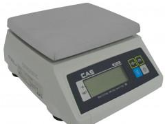 CAS SW-1W-20K Αδιάβροχη Ηλεκτρονική Ζυγαριά Για Έλεγχο Βάρους Προιόντων (Ικανότητα Ζύγισης: 20Kg - Υποδιαίρεση: 10gr)