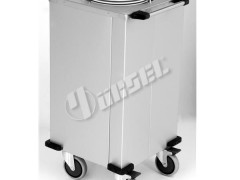 PORTASHELF M0108X Καρότσι Τροχήλατο Μεταφοράς Ανοξείδωτο Θερμαινόμενο για 50πιάτα (Εξωτ.διαστάσεις: 500x480x940mm)