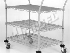 PORTASHELF MS128B Καρότσι Τροχήλατο Μεταφοράς Χρωμίου 3 επιπέδων (Εξ.διαστάσεις: 910x460x900mm)