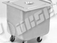 PORTASHELF MT140X Τροχήλατος Ανοξείδωτος Κάδος παραλληλόγραμμος Εξ.διαστάσεις: 500x550x500mm
