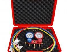 ROBINAIR RA41138E90C Κάσα Μανομέτρων για Ψυκτικούς - 2 Εξόδων R407C/R22/R410a (Με Λάστιχα 900mm & Βαλίτσα Μεταφοράς)