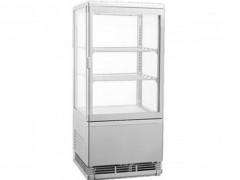 RT-58L Silver Επιτραπέζιο Επαγγελματικό Ψυγείο Βιτρίνα 58Lit Χρώμα: Ασημί - (ΜxΠxΥ: 428x386x810mm)