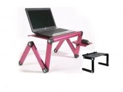 Πτυσσόμενο Τραπεζάκι Laptop Cooler με Βάση Mouse & 2 Ανεμιστήρες - Smart Foldable Τ6! Χρώμα Μαύρο - SMART FOLDABLE