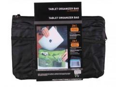 Οργανωτής Τσάντας με Πολλές Θήκες & Φερμουάρ σε Μαύρο Χρώμα για Android Tablet Ipad με 12 θέσεις και κρίκο για κλειδιά, Tablet Organizer Bag 40795 - Cb