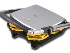 Sogo Τοστιέρα γκριλιέρα (grill) Σαντουιτσιέρα 2000W με Λαβή και Επίπεδες πλάκες, SAN-SS-7133 - SOGO